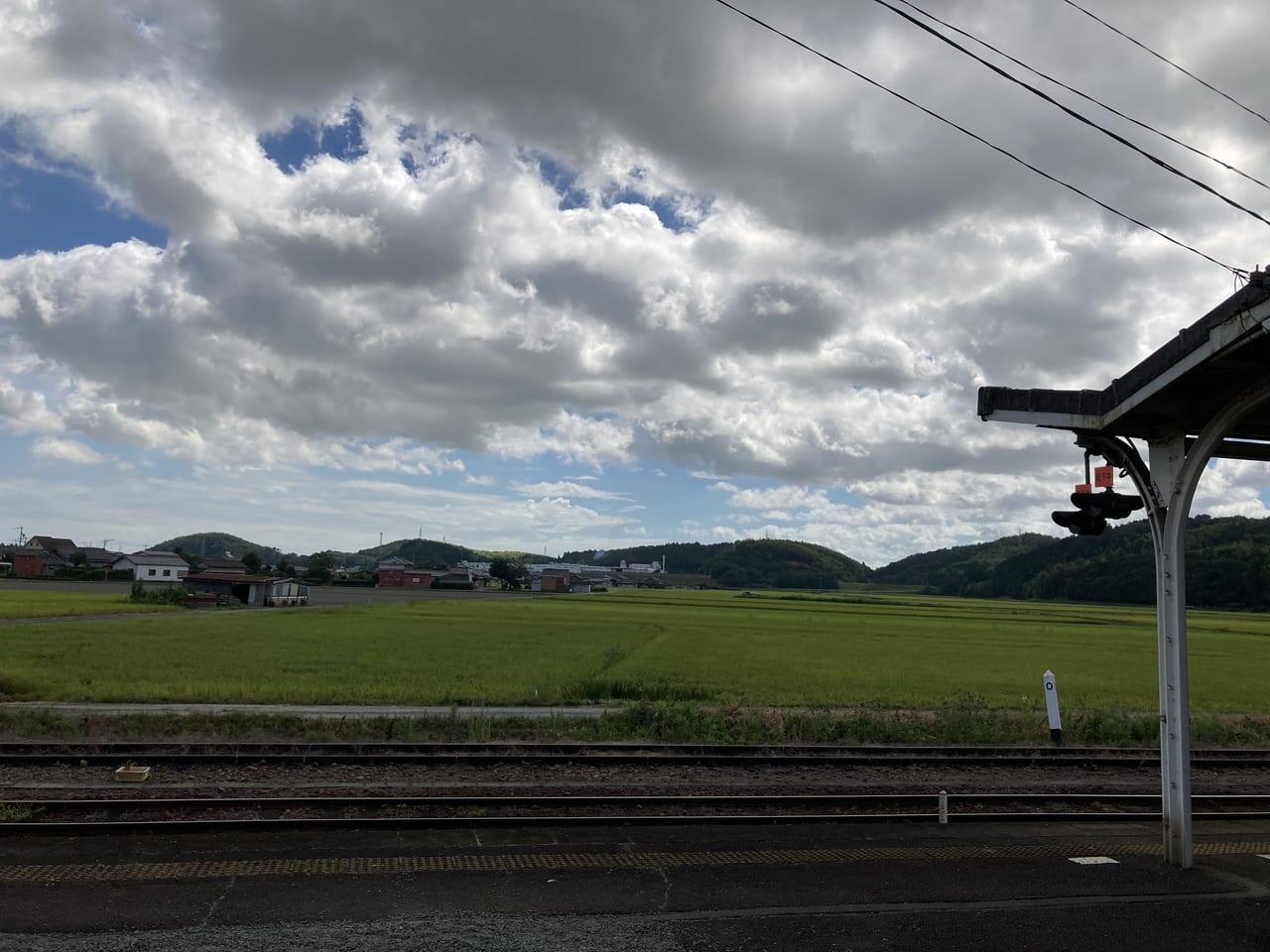 JR多気駅ホームからの景色