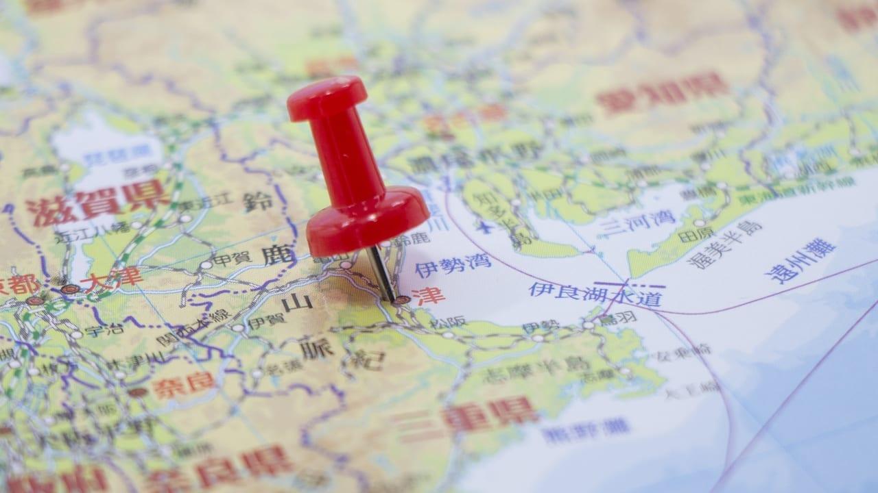 三重県の地図AC